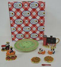 ENESCO 2000 MARY MOO MOOS HARVEST TEA SET #725889 IN ORIGINAL BOX-FIGURINES