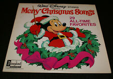 Walt Disney Presents Merry Christmas Songs Mickey Record 1 of 2 Only 1978 LP Oop