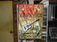 1950's Alverez Guitar Silk Advertising Banner