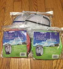 Pop Up Laundry Collapsible Travel Clothes Hampers w Handles Bags Baskets New x 2