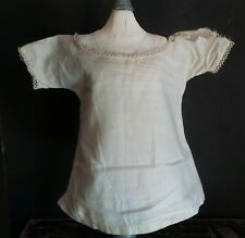 Antique Simple Dress with Tatted Trims for Bisque China or Composition Dolls
