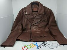 $895 UGG Australia Men's Vaughn Moto Leather Jacket Brown Carmel NEW  Size XXL