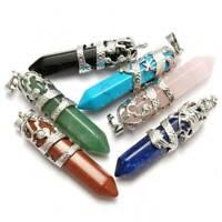 Hexagonal Natural Quartz Crystal Chakra Pendant Necklace Healing Point Jewelry