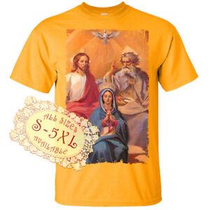 Holy Trinity V12 Jesus God Son Holy Spirit Print DTG T SHIRT All sizes S-5XL