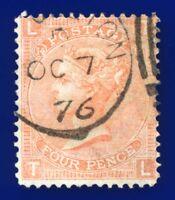 1873 SG94 4d Vermilion Plate 14 J61 TL Light CDS OC 7 76 G/FU CV £110 aumj