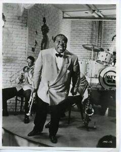 Louis Armstrong Jazz Legend Iconic performing 1954 Stamped Original Photograph