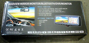 """NEW Crimestopper SV-9160N Replacement Style Mirror with 3.5"""" LCD Display w/ Nav"""