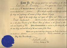 1907 document Signed by Acting Secretary of War Robert Shaw Oliver - Civil War