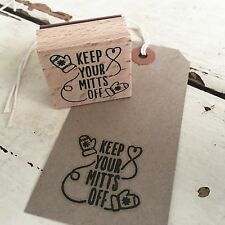 Christmas Mittens Wooden Printing Rubber Stamp - Xmas Tags Wrapping Cards Stamps