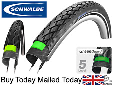 700 Schwalbe Marathon Bicycle Tyre 23c Wire GreenGuard