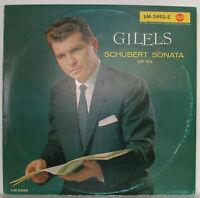 """Franz Schubert Sonata D-Dur Op. 53 Emil Gilels 12 """" LP (f408)"""