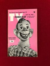 """1952,  Howdy Doody, """"TV FORECAST"""" Guide, (No Label on front) Scarce"""