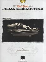 100 Hot Licks For Pedal Steel Guitar Play E9 Tuning PEDAL Guitar Music Book & CD