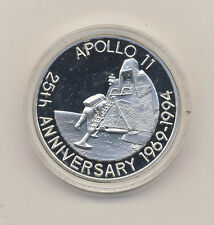 1993 Turks Caicos Large Silver Proof 20 cr-Space Moon- Apollo 11