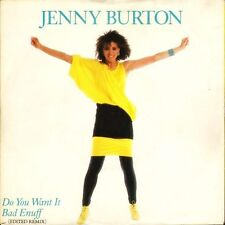 "JENNY BURTON you want it bad enuff/call me anytime A9343 uk atlantic 7"" PS EX/EX"