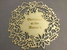 Laser cut Ply, Christmas at the surname wreath, Christmas, family,