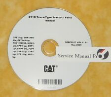 SEBP2817 Caterpillar D11R Track Type Tractor Dozer Parts Manual Book CD