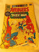 Classic Newton Marvel Comic - 1975 - B&W- The Avengers with Spiderman