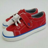 NEW ! See Kai Run Toddler Boys Size 8, 12 Basics Monterey Red Canvas Sneakers