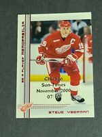 Steve Yzerman Detroit Red Wings 2000-01 Be A Player Chicago Sun-Times 7/10