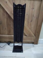 Black Wooden Electric CD Power Tower Storage CD Holder
