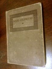 Vtg 1911 Wentworth's Solid Geometry Cloth Hardcover Decorative Book Illustrated