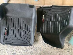 WeatherTech Floor Liners Black 444651 Front seats pair Dodge Ram