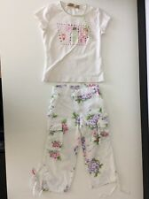 Monnalisa Girls Outfit Set Top & Capri Pants Age 8 Years Size H128