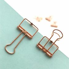Rose Gold Planner Paper Clips Binder Bulldog Paperclip 19mm x 5