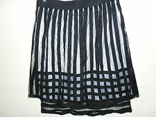 CONTONY cotton SKIRT size 12 black&netting as new layered work evening clubwear