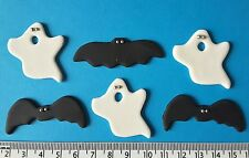 12 x cupcake cake toppers bats ghosts Halloween decorations
