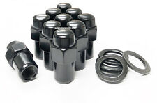"(20) 7/16-20 BLACK MAG WHEEL LUG NUTS .75"" SHANK CHEVY CORVETTE CAMARO CHEVELLE"
