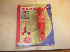 5 In1 Survival Emergency Kit, whistle, Compass, Mirror, Flint, lanyard, storage