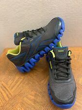reebok zigtech J88321 Black Blue Running Shoes Size 6