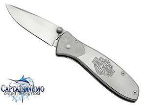 CASE CUTLERY TEC X HARLEY DAVIDSON LINERLOCK FOLDING POCKET KNIFE SILVER CA52083
