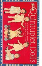 Vintage Uncut 1936 Quintuplets Paper Dolls Hd Laser Reproduction~No.1 Seller