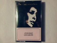 JOAN BAEZ Live Europe mc cassette k7 ITALY RARISSIMA COME NUOVA RARE LIKE NEW!!!
