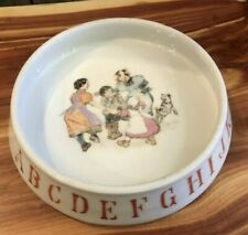 *Vintage Abc Ceramic Bowl Dish Germany with 4 Kids And A Dog!*