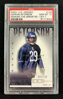 2002 Upper Deck Graded #129 Adrian Peterson Level 1 #415/700 Bears - PSA 10