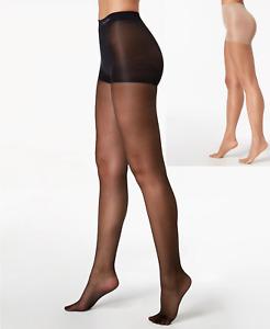calvin klein women's matte ultra sheer control top tights Bare, Black D, C