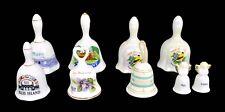 Nine Porcelain Ceramic Bells State South Western Ellis Island & More