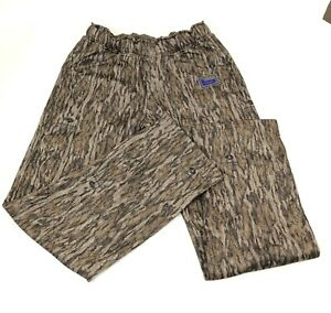 Banded Hunting Pants Soft Shell Camo Outdoor Mossy Oak Bottomland Women's Sz L