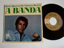 "HERB ALPERT & THE TIJUANA BRASS : A Banda (Chico Buarque) 7"" EP French EAM 1003"