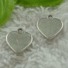 free ship 120 pcs tibet silver heart charms 15x14mm #3664