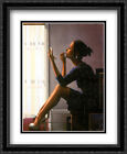 Only the Deepest Red II 2x Matted 28x36 Large Framed Art Print by Jack Vettriano