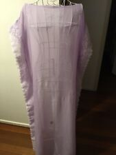 STUNNING SILK LILAC AND LACE CAFTAN KAFTAN SIZE 8-12 THROW OVER COVER UP RESORT