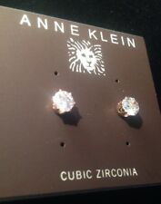 Anne Klein Cubic Zirconia Stud Earrings Rose Gold Color New