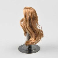 "Female Linen Brown Hair Wig Fit Kumik Toys 1/6 12"" Action Figure Women Girl Head"