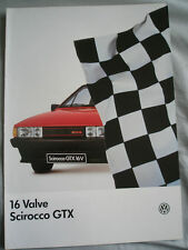 VW Scirocco GTX 16 Valve brochure Oct 1985