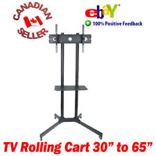 "TV mobile rolling cart stand 30"" - 65"" LED 3D LCD PLASMA 32 40 42 47 50 52 55 60"